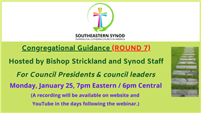 WEBINAR: Congregational Leaders Zoom (ROUND 7)